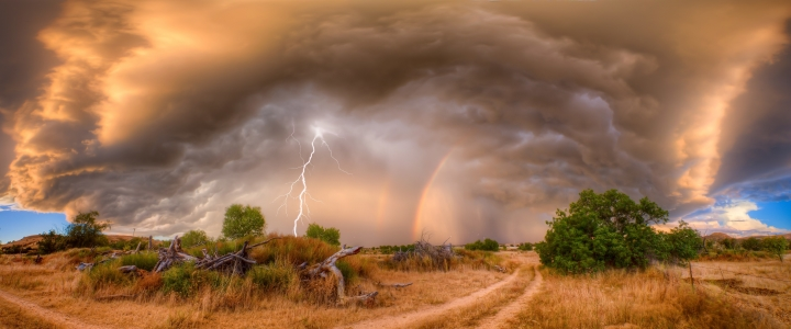Lightning and Rainbow